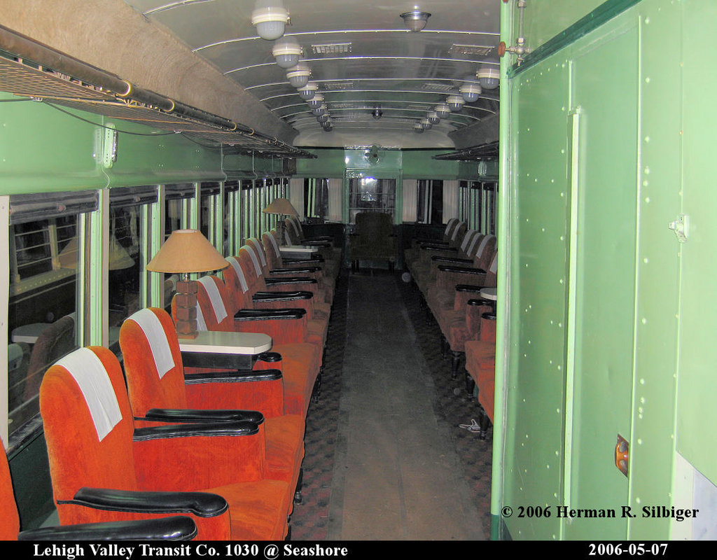 (214k, 1024x800)<br><b>Country:</b> United States<br><b>City:</b> Kennebunk, ME<br><b>System:</b> Seashore Trolley Museum <br><b>Car:</b> Lehigh Valley 1030 <br><b>Photo by:</b> Herman R. Silbiger<br><b>Date:</b> 5/7/2006<br><b>Viewed (this week/total):</b> 3 / 988