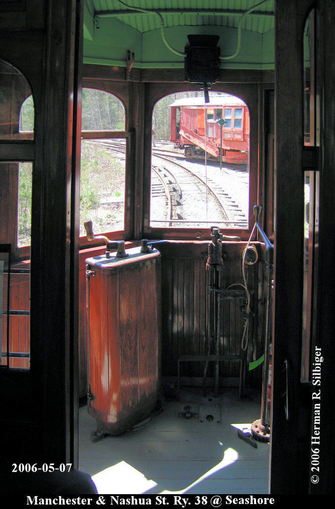 (181k, 675x1024)<br><b>Country:</b> United States<br><b>City:</b> Kennebunk, ME<br><b>System:</b> Seashore Trolley Museum <br><b>Car:</b> Manchester & Nashua 38 <br><b>Photo by:</b> Herman R. Silbiger<br><b>Date:</b> 5/7/2006<br><b>Viewed (this week/total):</b> 0 / 626