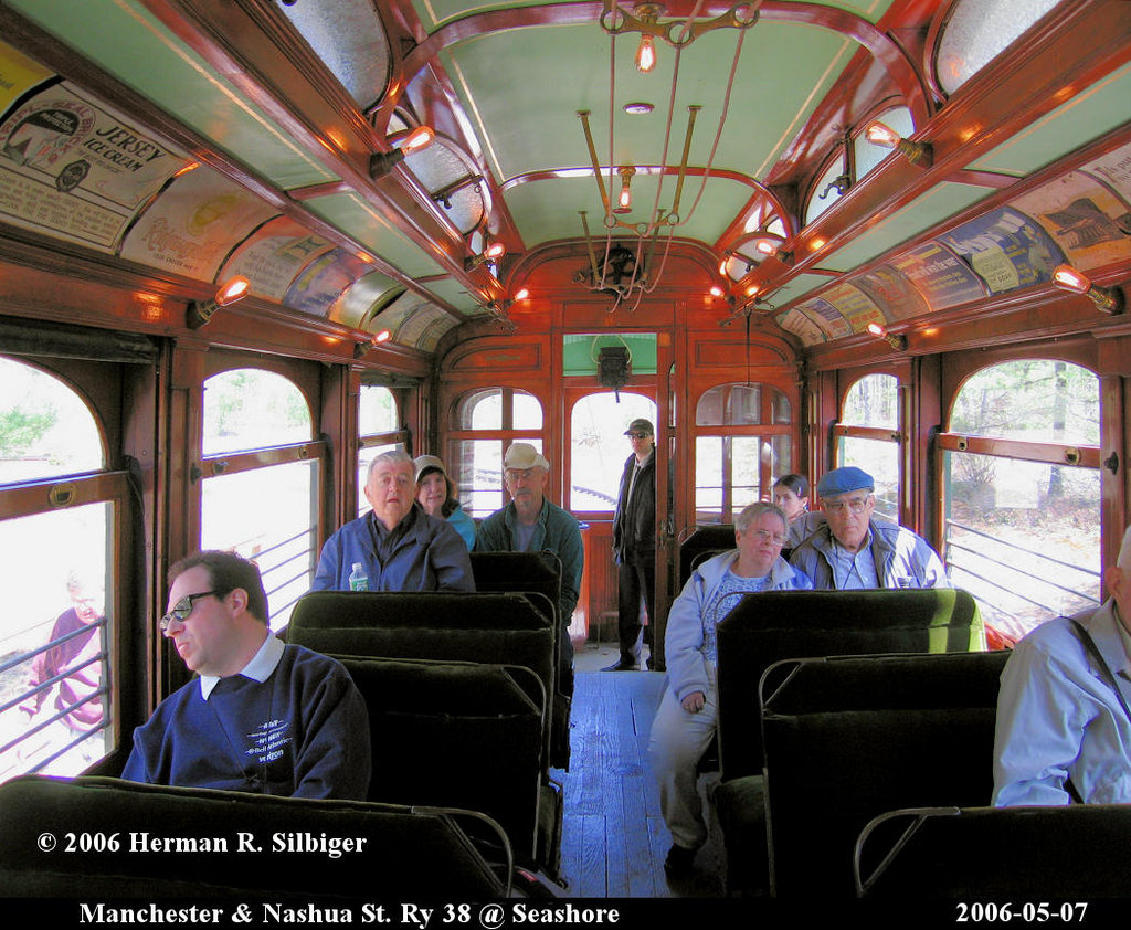 (275k, 1024x842)<br><b>Country:</b> United States<br><b>City:</b> Kennebunk, ME<br><b>System:</b> Seashore Trolley Museum <br><b>Car:</b> Manchester & Nashua 38 <br><b>Photo by:</b> Herman R. Silbiger<br><b>Date:</b> 5/7/2006<br><b>Viewed (this week/total):</b> 3 / 779