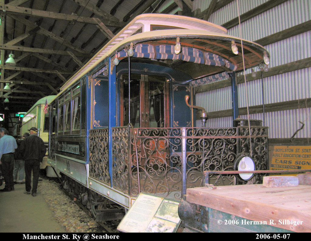 (265k, 1024x795)<br><b>Country:</b> United States<br><b>City:</b> Kennebunk, ME<br><b>System:</b> Seashore Trolley Museum <br><b>Car:</b> Manchester Street Railway City of Manchester <br><b>Photo by:</b> Herman R. Silbiger<br><b>Date:</b> 5/7/2006<br><b>Viewed (this week/total):</b> 2 / 576
