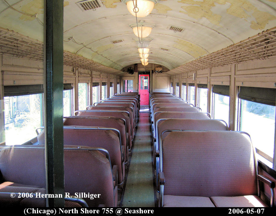 (169k, 933x730)<br><b>Country:</b> United States<br><b>City:</b> Kennebunk, ME<br><b>System:</b> Seashore Trolley Museum <br><b>Car:</b> Chicago North Shore 720 <br><b>Photo by:</b> Herman R. Silbiger<br><b>Date:</b> 5/7/2006<br><b>Viewed (this week/total):</b> 1 / 1148