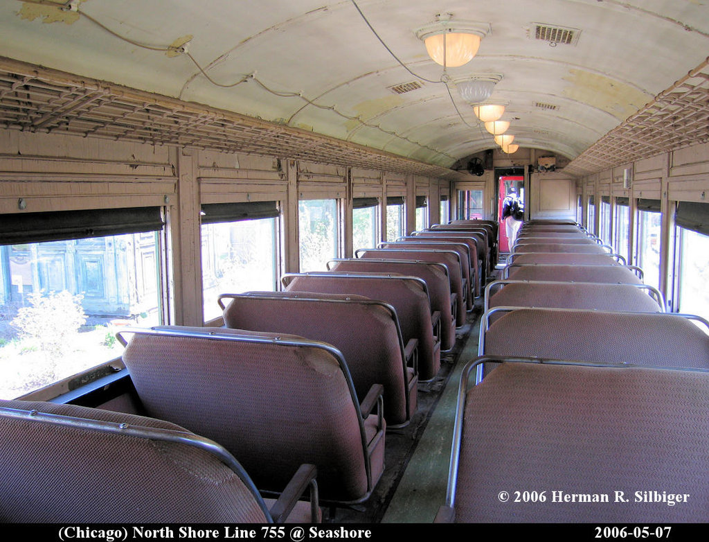 (238k, 1024x782)<br><b>Country:</b> United States<br><b>City:</b> Kennebunk, ME<br><b>System:</b> Seashore Trolley Museum <br><b>Car:</b> Chicago North Shore 755 <br><b>Photo by:</b> Herman R. Silbiger<br><b>Date:</b> 5/7/2006<br><b>Viewed (this week/total):</b> 1 / 961