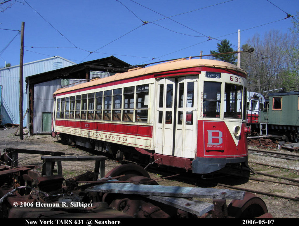(235k, 1024x776)<br><b>Country:</b> United States<br><b>City:</b> Kennebunk, ME<br><b>System:</b> Seashore Trolley Museum <br><b>Car:</b> TARS 631 <br><b>Photo by:</b> Herman R. Silbiger<br><b>Date:</b> 5/7/2006<br><b>Viewed (this week/total):</b> 3 / 797
