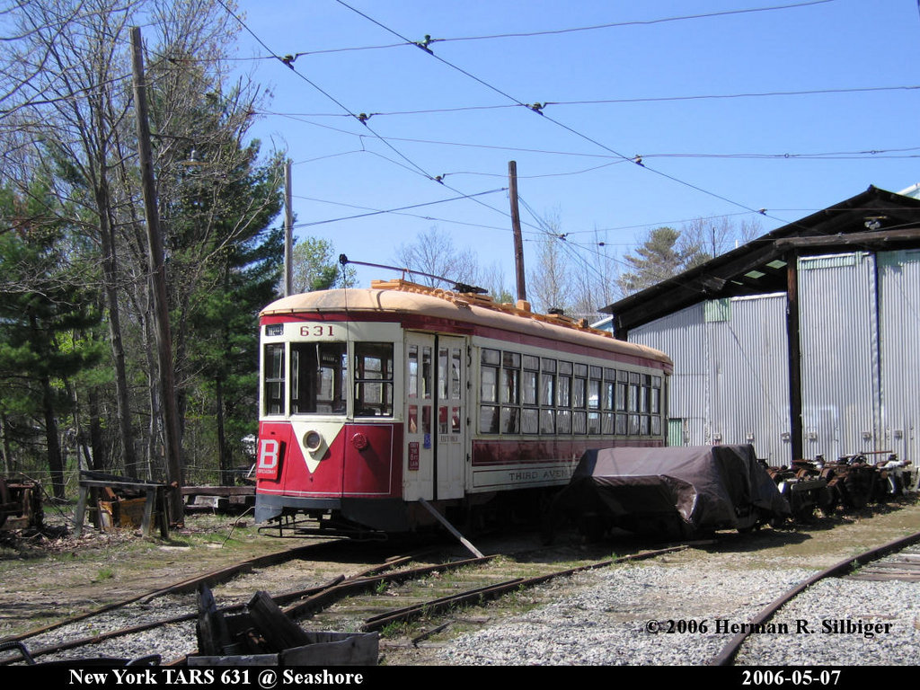 (262k, 1024x768)<br><b>Country:</b> United States<br><b>City:</b> Kennebunk, ME<br><b>System:</b> Seashore Trolley Museum <br><b>Car:</b> TARS 631 <br><b>Photo by:</b> Herman R. Silbiger<br><b>Date:</b> 5/7/2006<br><b>Viewed (this week/total):</b> 0 / 1085