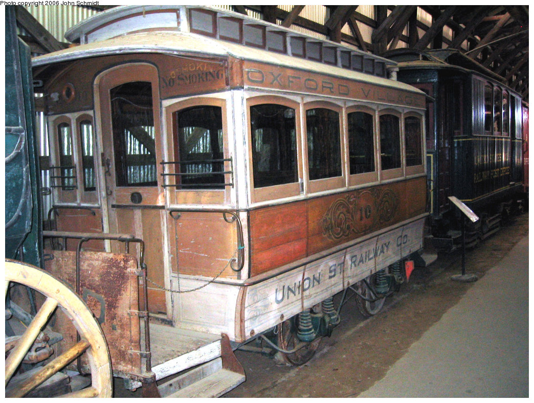 (286k, 1044x788)<br><b>Country:</b> United States<br><b>City:</b> Kennebunk, ME<br><b>System:</b> Seashore Trolley Museum <br><b>Car:</b> Union Street Railway 10 <br><b>Photo by:</b> John Schmidt<br><b>Date:</b> 8/18/2006<br><b>Viewed (this week/total):</b> 2 / 578
