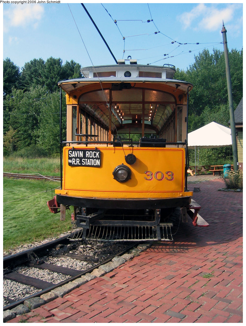 (278k, 788x1044)<br><b>Country:</b> United States<br><b>City:</b> Kennebunk, ME<br><b>System:</b> Seashore Trolley Museum <br><b>Car:</b> Connecticut Company 303 <br><b>Photo by:</b> John Schmidt<br><b>Date:</b> 8/18/2006<br><b>Viewed (this week/total):</b> 0 / 567