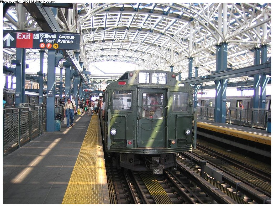 (259k, 1044x788)<br><b>Country:</b> United States<br><b>City:</b> New York<br><b>System:</b> New York City Transit<br><b>Location:</b> Coney Island/Stillwell Avenue<br><b>Route:</b> Fan Trip<br><b>Car:</b> R-9 (Pressed Steel, 1940)  1802 <br><b>Photo by:</b> Michael Hodurski<br><b>Date:</b> 8/20/2006<br><b>Viewed (this week/total):</b> 2 / 2308