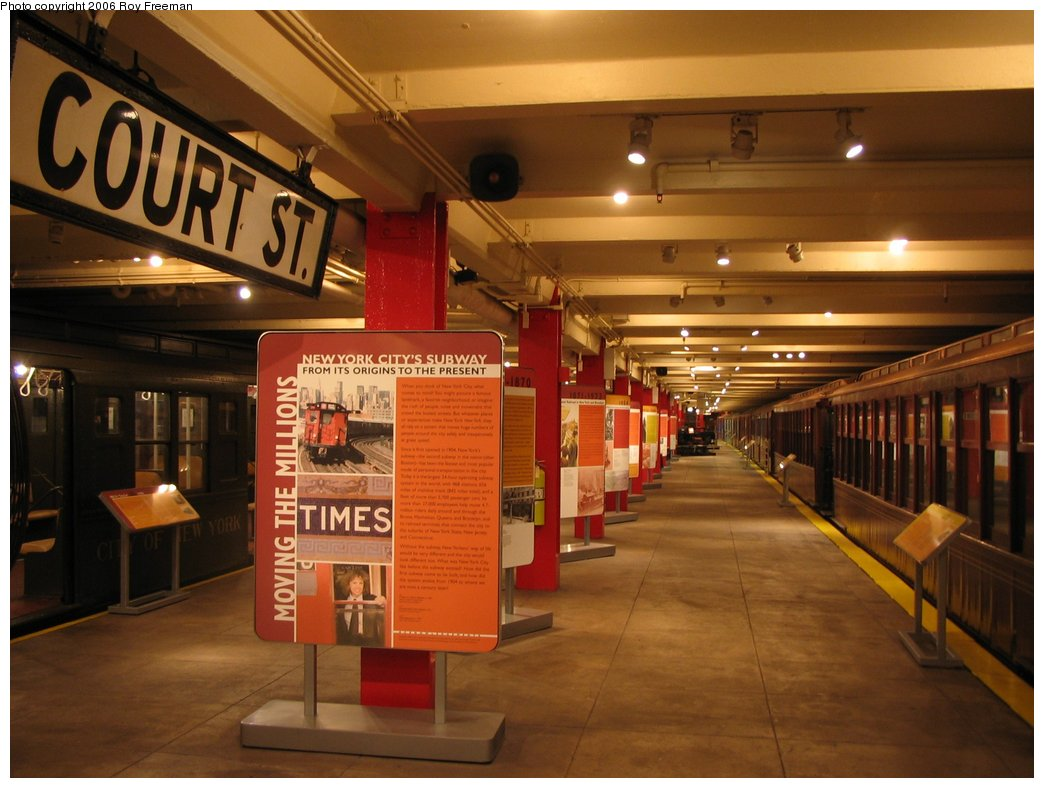 (141k, 1044x788)<br><b>Country:</b> United States<br><b>City:</b> New York<br><b>System:</b> New York City Transit<br><b>Location:</b> New York Transit Museum<br><b>Photo by:</b> Roy Freeman<br><b>Date:</b> 9/9/2006<br><b>Notes:</b> Platform level at NY Transit Museum.<br><b>Viewed (this week/total):</b> 5 / 3989