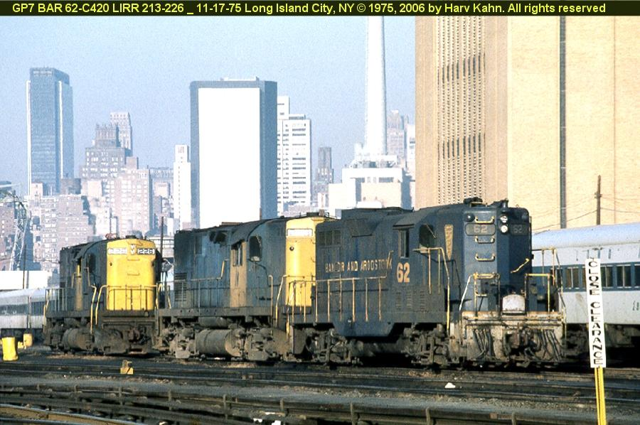 (104k, 900x598)<br><b>Country:</b> United States<br><b>City:</b> New York<br><b>System:</b> Long Island Rail Road<br><b>Line:</b> LIRR Long Island City<br><b>Location:</b> Long Island City <br><b>Car:</b>  62 <br><b>Photo by:</b> Harv Kahn<br><b>Date:</b> 11/17/1975<br><b>Viewed (this week/total):</b> 4 / 1298