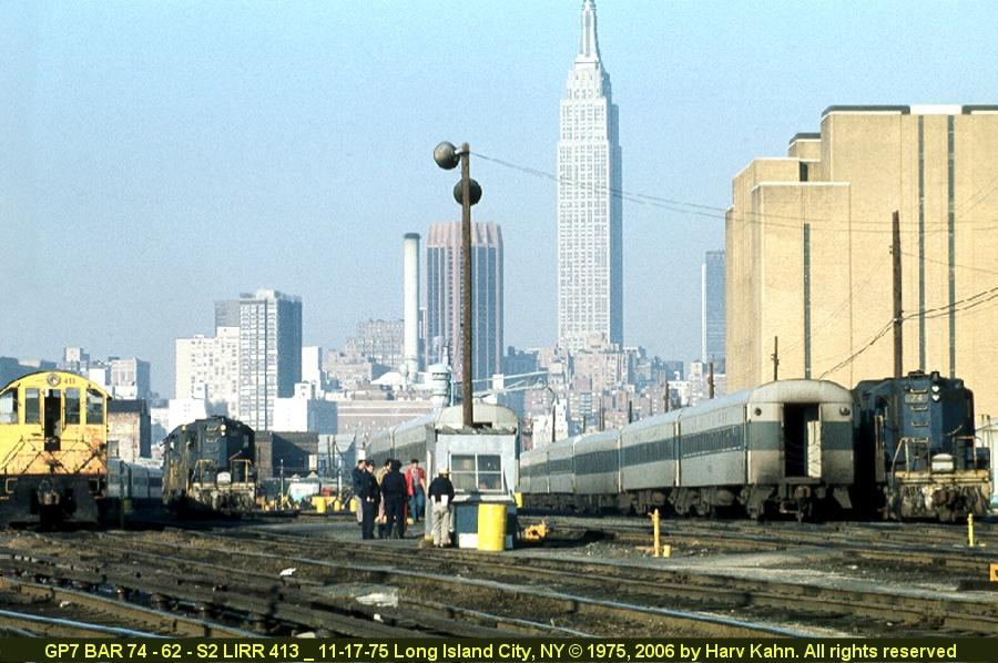 (96k, 900x598)<br><b>Country:</b> United States<br><b>City:</b> New York<br><b>System:</b> Long Island Rail Road<br><b>Line:</b> LIRR Long Island City<br><b>Location:</b> Long Island City <br><b>Photo by:</b> Harv Kahn<br><b>Date:</b> 11/17/1975<br><b>Viewed (this week/total):</b> 2 / 1283