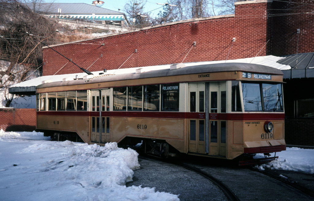 (294k, 1024x656)<br><b>Country:</b> United States<br><b>City:</b> Baltimore, MD<br><b>System:</b> Baltimore Streetcar Museum <br><b>Car:</b>  6119 <br><b>Photo by:</b> Chris Leverett<br><b>Date:</b> 2/6/2000<br><b>Viewed (this week/total):</b> 2 / 1080