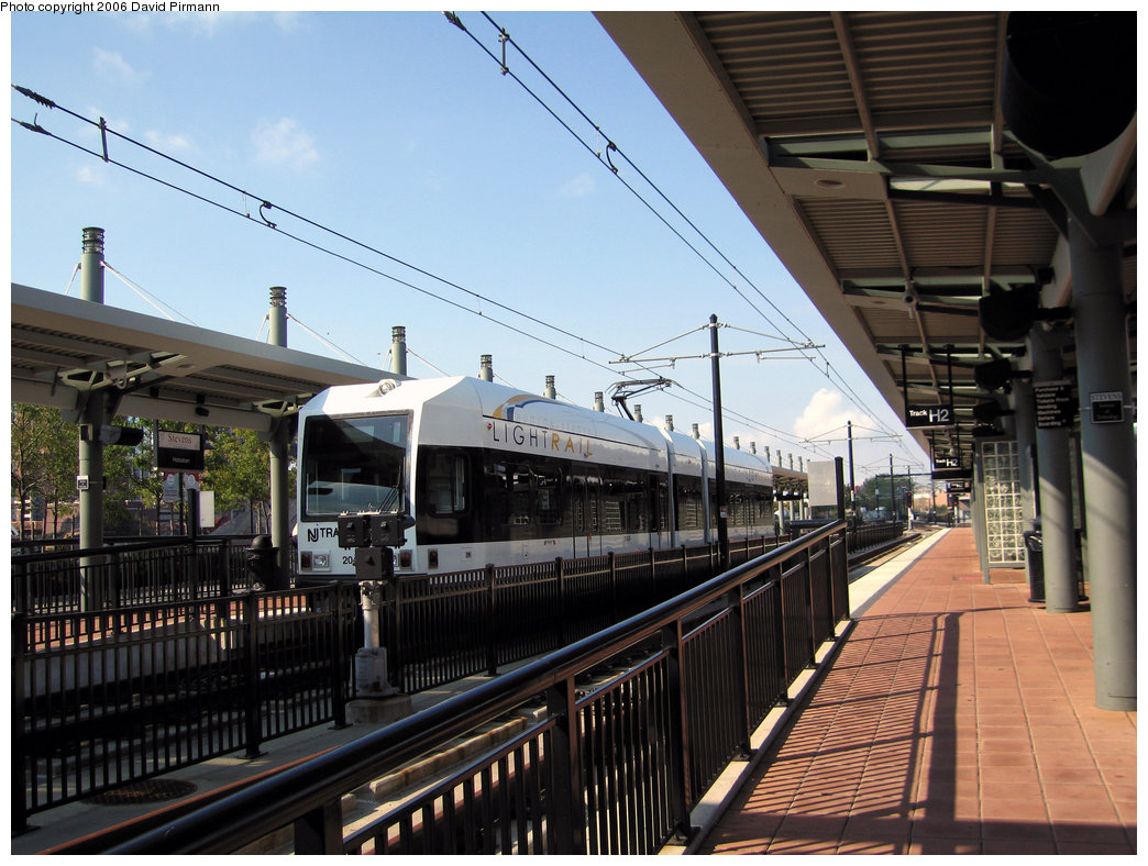 (250k, 1044x788)<br><b>Country:</b> United States<br><b>City:</b> Hoboken, NJ<br><b>System:</b> Hudson Bergen Light Rail<br><b>Location:</b> Hoboken <br><b>Car:</b> NJT-HBLR LRV (Kinki-Sharyo, 1998-99)  2043 <br><b>Photo by:</b> David Pirmann<br><b>Date:</b> 9/28/2006<br><b>Viewed (this week/total):</b> 0 / 769