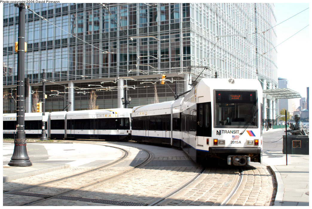 (275k, 1044x701)<br><b>Country:</b> United States<br><b>City:</b> Jersey City, NJ<br><b>System:</b> Hudson Bergen Light Rail<br><b>Location:</b> Essex Street <br><b>Car:</b> NJT-HBLR LRV (Kinki-Sharyo, 1998-99)  2015 <br><b>Photo by:</b> David Pirmann<br><b>Date:</b> 9/28/2006<br><b>Viewed (this week/total):</b> 1 / 1701