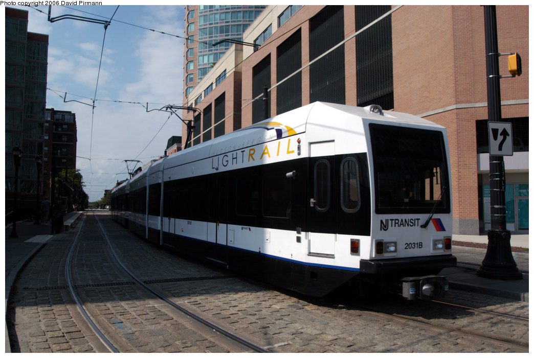 (198k, 1044x701)<br><b>Country:</b> United States<br><b>City:</b> Jersey City, NJ<br><b>System:</b> Hudson Bergen Light Rail<br><b>Location:</b> Essex Street <br><b>Car:</b> NJT-HBLR LRV (Kinki-Sharyo, 1998-99)  2031 <br><b>Photo by:</b> David Pirmann<br><b>Date:</b> 9/28/2006<br><b>Viewed (this week/total):</b> 1 / 1085