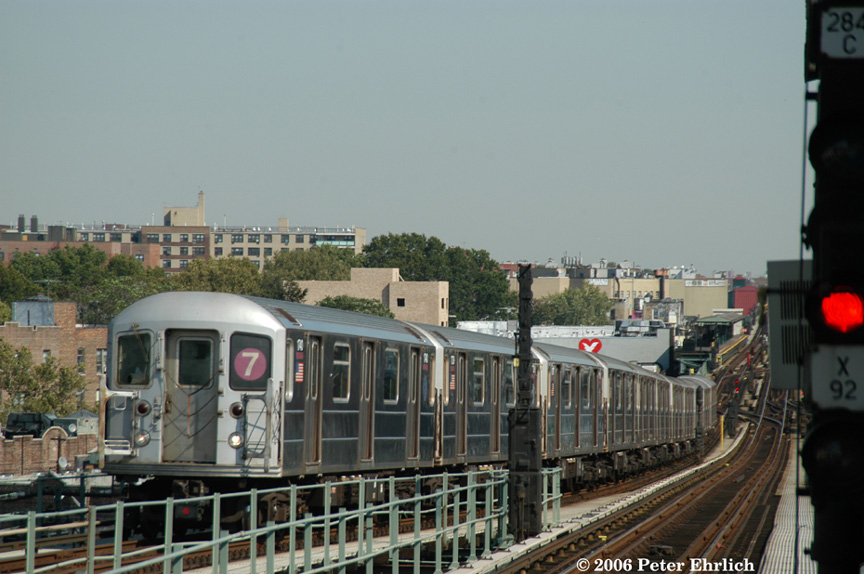 (178k, 864x574)<br><b>Country:</b> United States<br><b>City:</b> New York<br><b>System:</b> New York City Transit<br><b>Line:</b> IRT Flushing Line<br><b>Location:</b> 61st Street/Woodside <br><b>Route:</b> 7<br><b>Car:</b> R-62A (Bombardier, 1984-1987)  1740 <br><b>Photo by:</b> Peter Ehrlich<br><b>Date:</b> 10/3/2006<br><b>Viewed (this week/total):</b> 4 / 1805