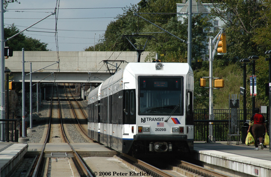 (239k, 864x563)<br><b>Country:</b> United States<br><b>City:</b> Jersey City, NJ<br><b>System:</b> Hudson Bergen Light Rail<br><b>Location:</b> Garfield Avenue <br><b>Car:</b> NJT-HBLR LRV (Kinki-Sharyo, 1998-99)  2029+2023 <br><b>Photo by:</b> Peter Ehrlich<br><b>Date:</b> 9/28/2006<br><b>Viewed (this week/total):</b> 1 / 1403