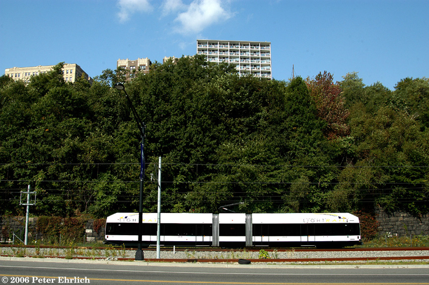 (299k, 864x574)<br><b>Country:</b> United States<br><b>City:</b> Weehawken, NJ<br><b>System:</b> Hudson Bergen Light Rail<br><b>Location:</b> Port Imperial <br><b>Car:</b> NJT-HBLR LRV (Kinki-Sharyo, 1998-99)  2043 <br><b>Photo by:</b> Peter Ehrlich<br><b>Date:</b> 9/28/2006<br><b>Viewed (this week/total):</b> 0 / 1089