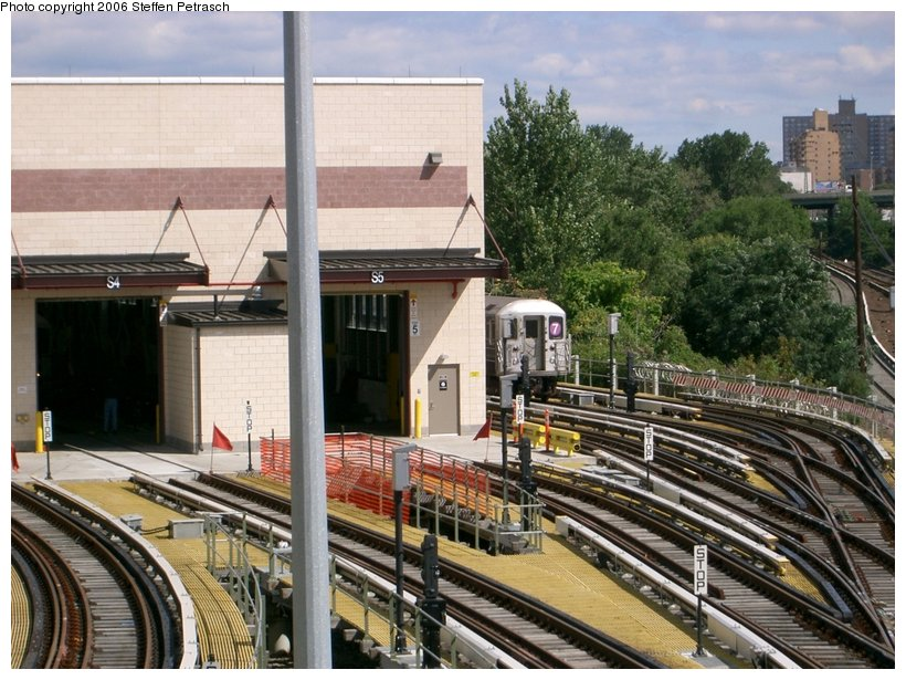 (173k, 820x615)<br><b>Country:</b> United States<br><b>City:</b> New York<br><b>System:</b> New York City Transit<br><b>Location:</b> Corona Yard<br><b>Photo by:</b> Steffen Petrasch<br><b>Date:</b> 9/25/2006<br><b>Notes:</b> New shop building.<br><b>Viewed (this week/total):</b> 0 / 936