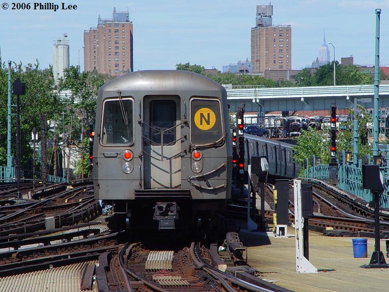 (114k, 794x596)<br><b>Country:</b> United States<br><b>City:</b> New York<br><b>System:</b> New York City Transit<br><b>Location:</b> Coney Island/Stillwell Avenue<br><b>Route:</b> N<br><b>Car:</b> R-68A (Kawasaki, 1988-1989)   <br><b>Photo by:</b> Phillip Lee<br><b>Date:</b> 9/11/2006<br><b>Viewed (this week/total):</b> 2 / 3173