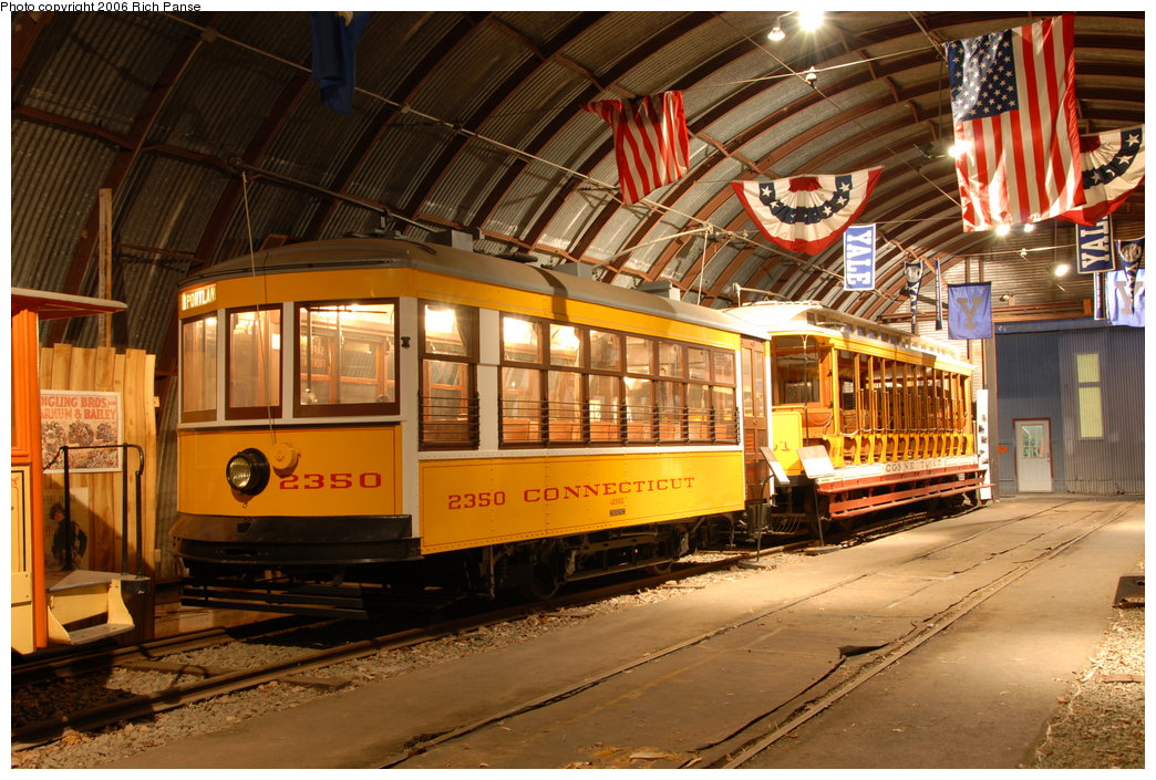 (240k, 1044x705)<br><b>Country:</b> United States<br><b>City:</b> East Haven/Branford, Ct.<br><b>System:</b> Shore Line Trolley Museum <br><b>Car:</b> Connecticut Company 2350 <br><b>Photo by:</b> Richard Panse<br><b>Date:</b> 11/4/2006<br><b>Viewed (this week/total):</b> 2 / 1013