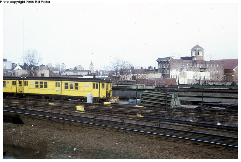 (115k, 820x553)<br><b>Country:</b> United States<br><b>City:</b> New York<br><b>System:</b> New York City Transit<br><b>Location:</b> East 180th Street Yard<br><b>Photo by:</b> Kenneth Palter<br><b>Collection of:</b> Bill Palter<br><b>Date:</b> 4/1973<br><b>Viewed (this week/total):</b> 2 / 1197