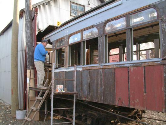 (53k, 550x413)<br><b>Country:</b> United States<br><b>City:</b> East Haven/Branford, Ct.<br><b>System:</b> Shore Line Trolley Museum <br><b>Car:</b> Kings County Elevated 197 <br><b>Photo by:</b> Vic Gordon<br><b>Date:</b> 5/2006<br><b>Viewed (this week/total):</b> 2 / 640