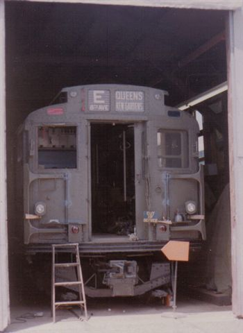 (22k, 350x480)<br><b>Country:</b> United States<br><b>City:</b> East Haven/Branford, Ct.<br><b>System:</b> Shore Line Trolley Museum <br><b>Car:</b> R-9 (American Car & Foundry, 1940)  1689 <br><b>Collection of:</b> Vic Gordon<br><b>Notes:</b> R9 1689 in the shop at Shore Line.<br><b>Viewed (this week/total):</b> 0 / 1205