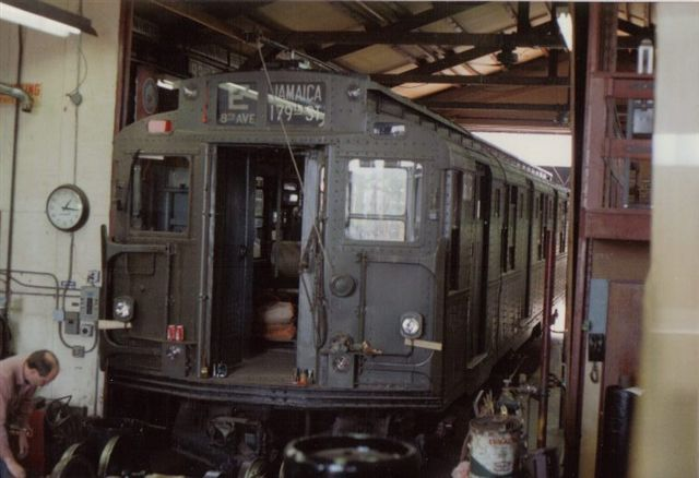 (45k, 640x438)<br><b>Country:</b> United States<br><b>City:</b> East Haven/Branford, Ct.<br><b>System:</b> Shore Line Trolley Museum <br><b>Car:</b> R-9 (American Car & Foundry, 1940)  1689 <br><b>Collection of:</b> Vic Gordon<br><b>Date:</b> 2005<br><b>Notes:</b> R9 1689 in the shop at Shore Line.<br><b>Viewed (this week/total):</b> 0 / 1105