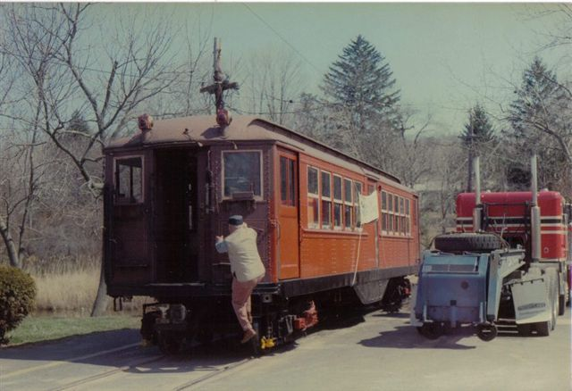 (50k, 640x438)<br><b>Country:</b> United States<br><b>City:</b> East Haven/Branford, Ct.<br><b>System:</b> Shore Line Trolley Museum <br><b>Car:</b> Low-V 5466 <br><b>Collection of:</b> Vic Gordon<br><b>Notes:</b> Arriving at Shore Line.<br><b>Viewed (this week/total):</b> 1 / 693