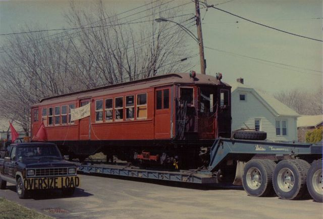 (48k, 640x434)<br><b>Country:</b> United States<br><b>City:</b> East Haven/Branford, Ct.<br><b>System:</b> Shore Line Trolley Museum <br><b>Car:</b> Low-V 5466 <br><b>Collection of:</b> Vic Gordon<br><b>Notes:</b> Arriving at Shore Line.<br><b>Viewed (this week/total):</b> 0 / 1002