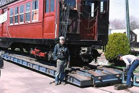 (41k, 480x323)<br><b>Country:</b> United States<br><b>City:</b> East Haven/Branford, Ct.<br><b>System:</b> Shore Line Trolley Museum <br><b>Car:</b> Low-V 5466 <br><b>Collection of:</b> Vic Gordon<br><b>Notes:</b> Arriving at Shore Line.<br><b>Viewed (this week/total):</b> 3 / 961