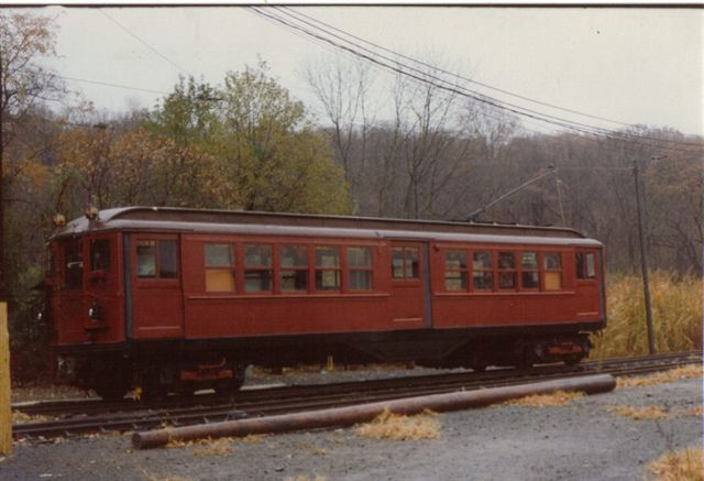 (44k, 640x437)<br><b>Country:</b> United States<br><b>City:</b> East Haven/Branford, Ct.<br><b>System:</b> Shore Line Trolley Museum <br><b>Car:</b> Low-V 5466 <br><b>Collection of:</b> Vic Gordon<br><b>Notes:</b> Day of arrival at Shore Line.<br><b>Viewed (this week/total):</b> 0 / 682