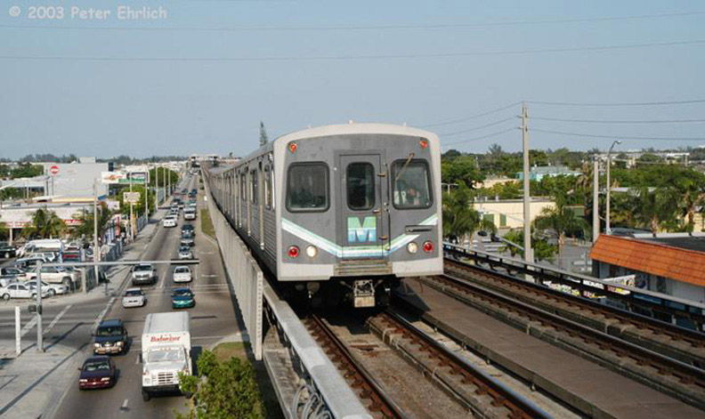 (152k, 792x471)<br><b>Country:</b> United States<br><b>City:</b> Miami, FL<br><b>System:</b> Miami Metrorail<br><b>Location:</b> Tri-Rail <br><b>Car:</b>  212 <br><b>Photo by:</b> Peter Ehrlich<br><b>Date:</b> 4/25/2003<br><b>Notes:</b> Approaching Tri-Rail/MetroRail Station northbound.<br><b>Viewed (this week/total):</b> 0 / 2093