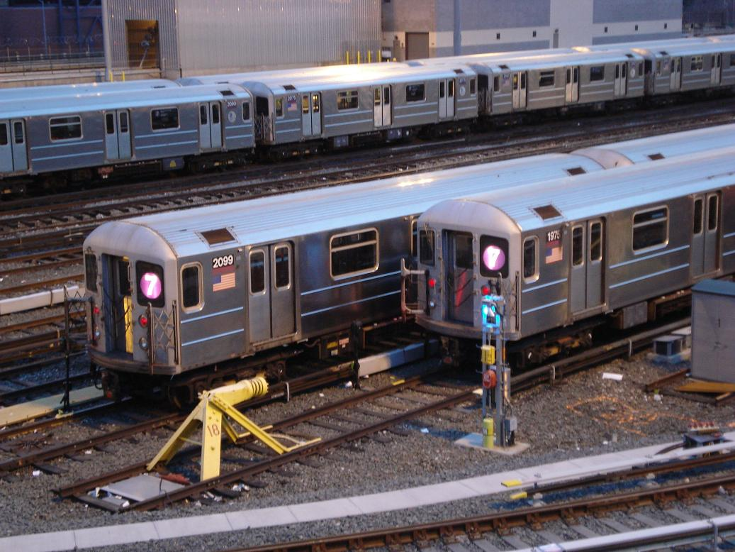 (147k, 1037x778)<br><b>Country:</b> United States<br><b>City:</b> New York<br><b>System:</b> New York City Transit<br><b>Location:</b> Corona Yard<br><b>Car:</b> R-62A (Bombardier, 1984-1987)  2099/1975 <br><b>Photo by:</b> Michael Hodurski<br><b>Date:</b> 12/29/2006<br><b>Viewed (this week/total):</b> 1 / 1707