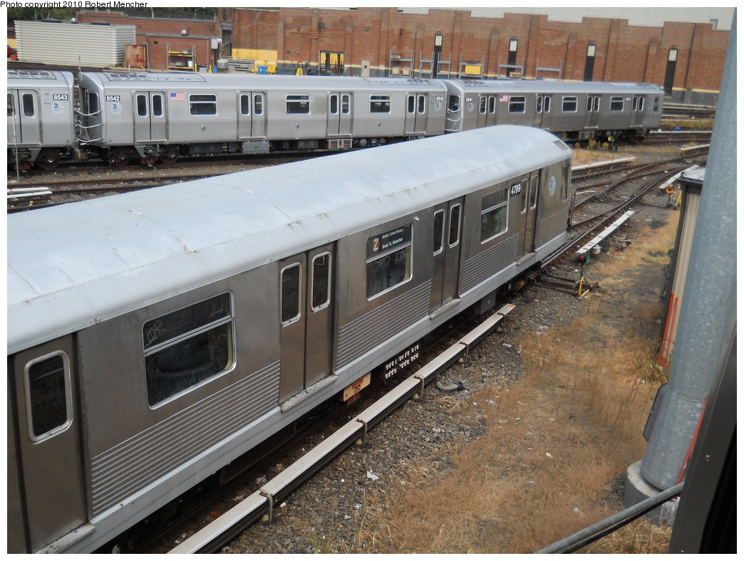 (308k, 1044x788)<br><b>Country:</b> United States<br><b>City:</b> New York<br><b>System:</b> New York City Transit<br><b>Location:</b> East New York Yard/Shops<br><b>Car:</b> R-42 (St. Louis, 1969-1970)  4799 <br><b>Photo by:</b> Robert Mencher<br><b>Date:</b> 8/9/2010<br><b>Viewed (this week/total):</b> 1 / 552