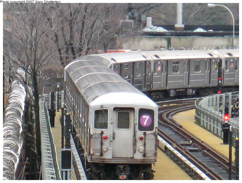 (136k, 820x620)<br><b>Country:</b> United States<br><b>City:</b> New York<br><b>System:</b> New York City Transit<br><b>Location:</b> Corona Yard<br><b>Car:</b> R-62A (Bombardier, 1984-1987)  1975 <br><b>Photo by:</b> Gary Chatterton<br><b>Date:</b> 12/23/2006<br><b>Viewed (this week/total):</b> 0 / 1954