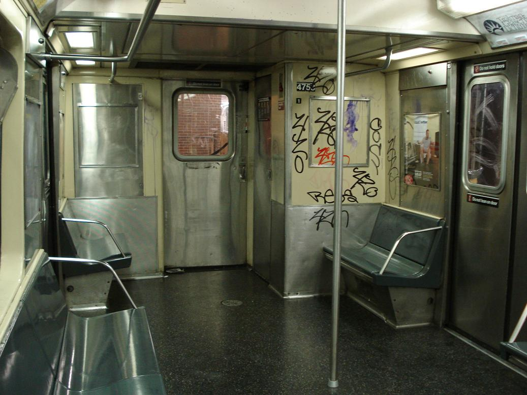 (123k, 1037x778)<br><b>Country:</b> United States<br><b>City:</b> New York<br><b>System:</b> New York City Transit<br><b>Line:</b> BMT Myrtle Avenue Line<br><b>Location:</b> Metropolitan Avenue <br><b>Route:</b> M<br><b>Car:</b> R-42 (St. Louis, 1969-1970)  4753 <br><b>Photo by:</b> Michael Hodurski<br><b>Date:</b> 1/6/2007<br><b>Viewed (this week/total):</b> 6 / 4219