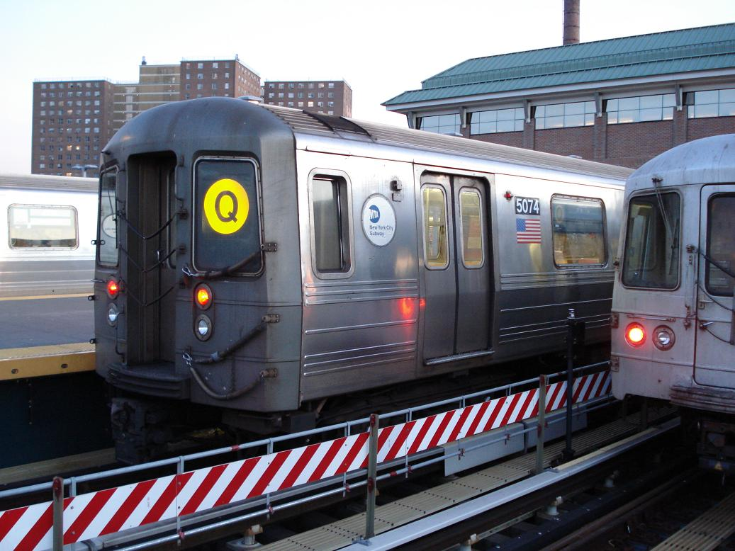 (140k, 1037x778)<br><b>Country:</b> United States<br><b>City:</b> New York<br><b>System:</b> New York City Transit<br><b>Location:</b> Coney Island/Stillwell Avenue<br><b>Route:</b> Q<br><b>Car:</b> R-68A (Kawasaki, 1988-1989)  5074 <br><b>Photo by:</b> Michael Hodurski<br><b>Date:</b> 1/4/2007<br><b>Viewed (this week/total):</b> 1 / 1731