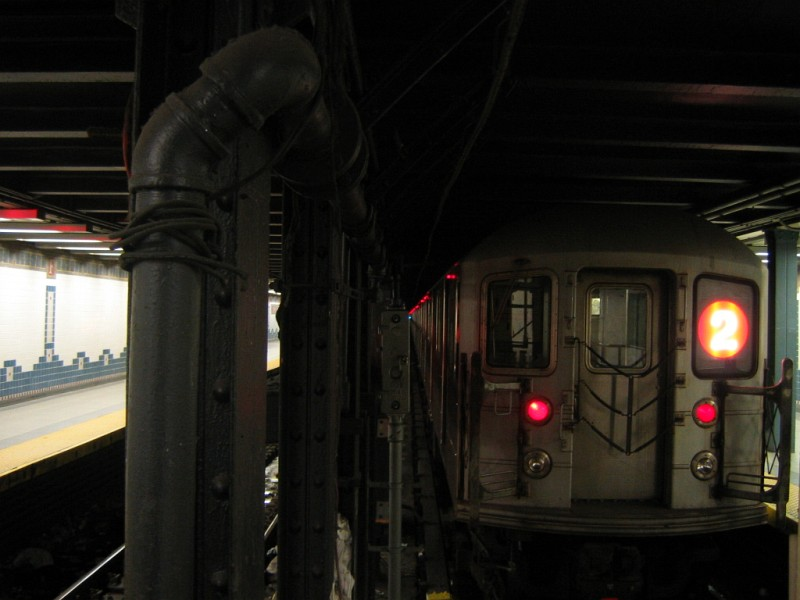 (84k, 800x600)<br><b>Country:</b> United States<br><b>City:</b> New York<br><b>System:</b> New York City Transit<br><b>Line:</b> IRT Brooklyn Line<br><b>Location:</b> Flatbush Avenue <br><b>Route:</b> 2<br><b>Car:</b> R-62A (Bombardier, 1984-1987)   <br><b>Photo by:</b> Dante D. Angerville<br><b>Date:</b> 6/12/2004<br><b>Viewed (this week/total):</b> 2 / 4760
