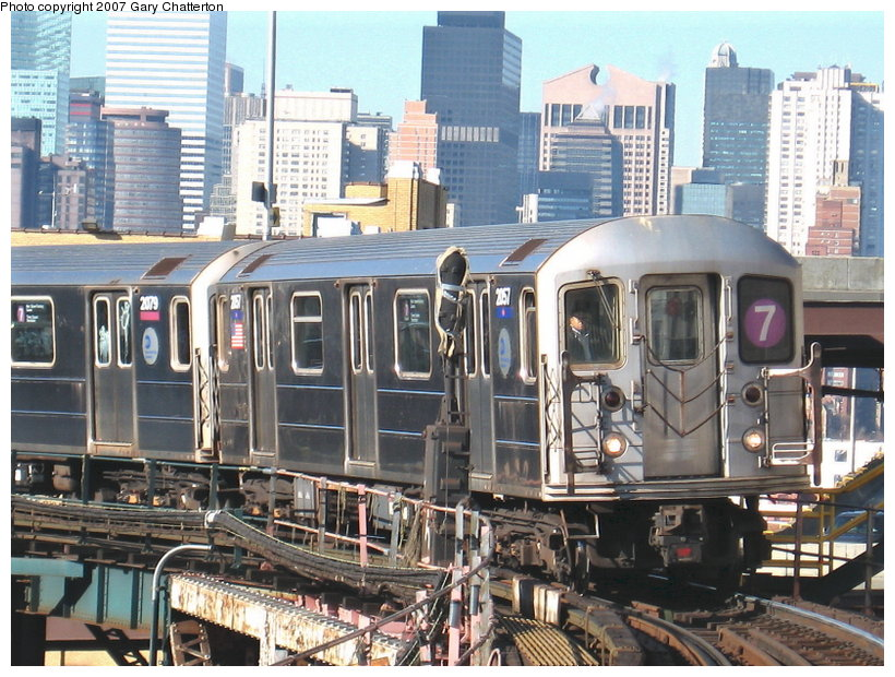 (153k, 820x620)<br><b>Country:</b> United States<br><b>City:</b> New York<br><b>System:</b> New York City Transit<br><b>Line:</b> IRT Flushing Line<br><b>Location:</b> Queensborough Plaza <br><b>Route:</b> 7<br><b>Car:</b> R-62A (Bombardier, 1984-1987)  2057 <br><b>Photo by:</b> Gary Chatterton<br><b>Date:</b> 12/9/2006<br><b>Viewed (this week/total):</b> 5 / 2162