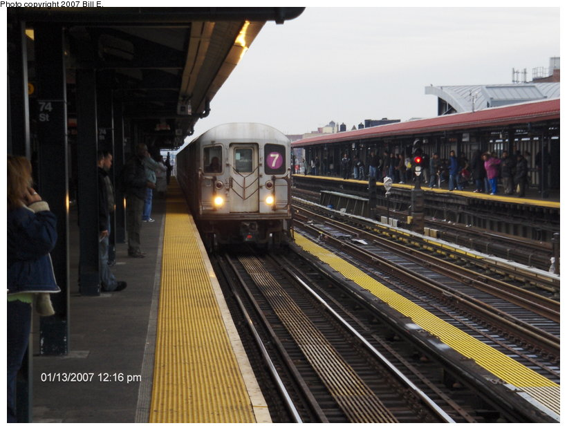 (111k, 820x622)<br><b>Country:</b> United States<br><b>City:</b> New York<br><b>System:</b> New York City Transit<br><b>Line:</b> IRT Flushing Line<br><b>Location:</b> 74th Street/Broadway <br><b>Route:</b> 7<br><b>Car:</b> R-62A (Bombardier, 1984-1987)  1755 <br><b>Photo by:</b> Bill E.<br><b>Date:</b> 1/13/2007<br><b>Viewed (this week/total):</b> 2 / 2105