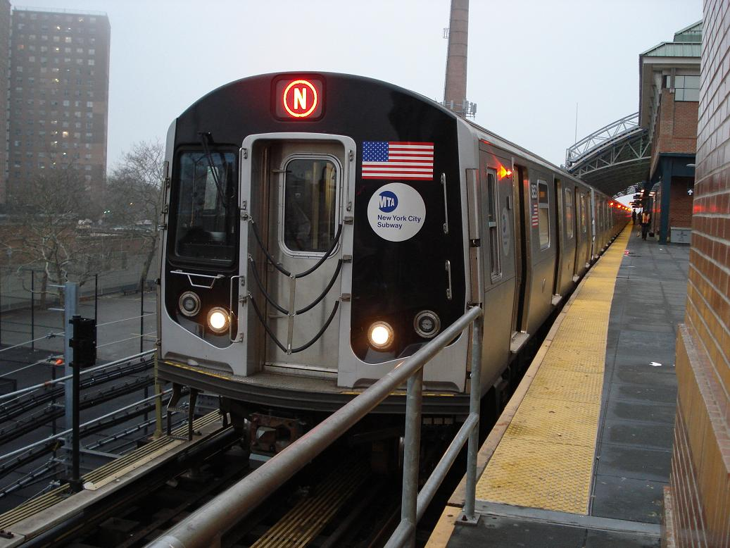 (135k, 1037x778)<br><b>Country:</b> United States<br><b>City:</b> New York<br><b>System:</b> New York City Transit<br><b>Location:</b> Coney Island/Stillwell Avenue<br><b>Route:</b> N<br><b>Car:</b> R-160A-2 (Alstom, 2005-2008, 5 car sets)  8653 <br><b>Photo by:</b> Michael Hodurski<br><b>Date:</b> 1/15/2007<br><b>Viewed (this week/total):</b> 1 / 3406