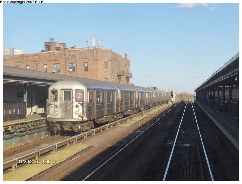 (104k, 820x623)<br><b>Country:</b> United States<br><b>City:</b> New York<br><b>System:</b> New York City Transit<br><b>Line:</b> IRT Flushing Line<br><b>Location:</b> 52nd Street/Lincoln Avenue <br><b>Route:</b> 7<br><b>Car:</b> R-62A (Bombardier, 1984-1987)  1791 <br><b>Photo by:</b> Bill E.<br><b>Date:</b> 1/20/2007<br><b>Viewed (this week/total):</b> 2 / 1786
