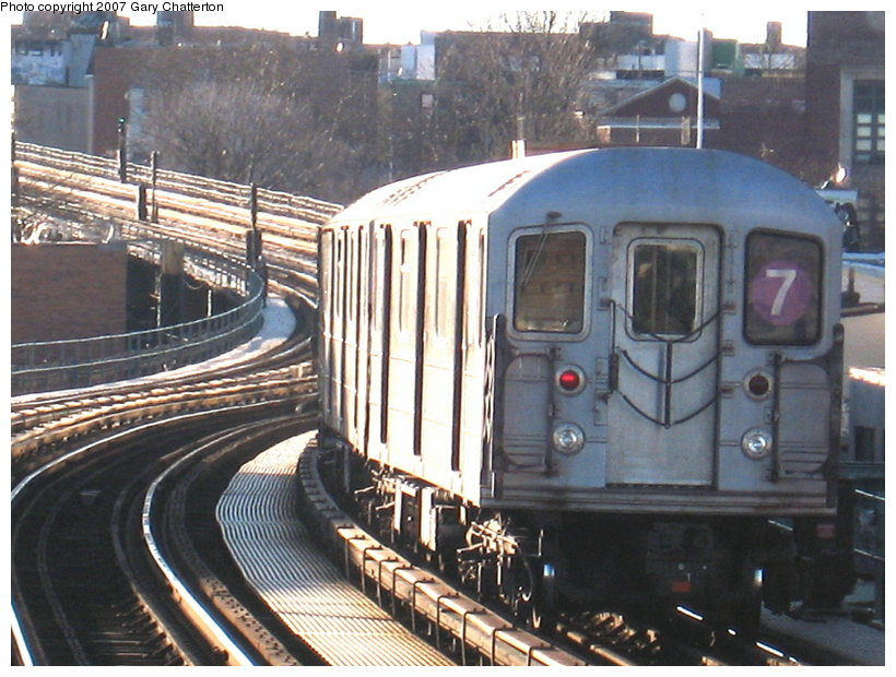 (133k, 820x620)<br><b>Country:</b> United States<br><b>City:</b> New York<br><b>System:</b> New York City Transit<br><b>Line:</b> IRT Flushing Line<br><b>Location:</b> 61st Street/Woodside <br><b>Route:</b> 7<br><b>Car:</b> R-62A (Bombardier, 1984-1987)  2078 <br><b>Photo by:</b> Gary Chatterton<br><b>Date:</b> 1/17/2007<br><b>Viewed (this week/total):</b> 1 / 1719