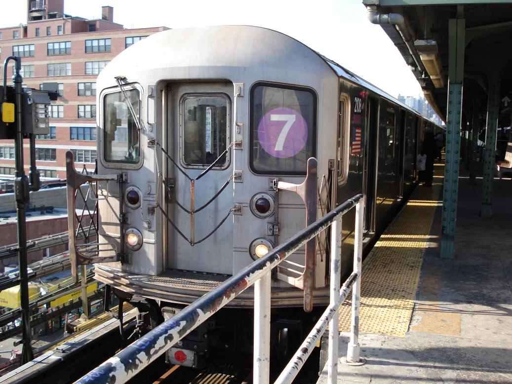 (165k, 1037x778)<br><b>Country:</b> United States<br><b>City:</b> New York<br><b>System:</b> New York City Transit<br><b>Line:</b> IRT Flushing Line<br><b>Location:</b> Queensborough Plaza <br><b>Route:</b> 7<br><b>Car:</b> R-62A (Bombardier, 1984-1987)  2108 <br><b>Photo by:</b> Michael Hodurski<br><b>Date:</b> 1/26/2007<br><b>Viewed (this week/total):</b> 3 / 1282