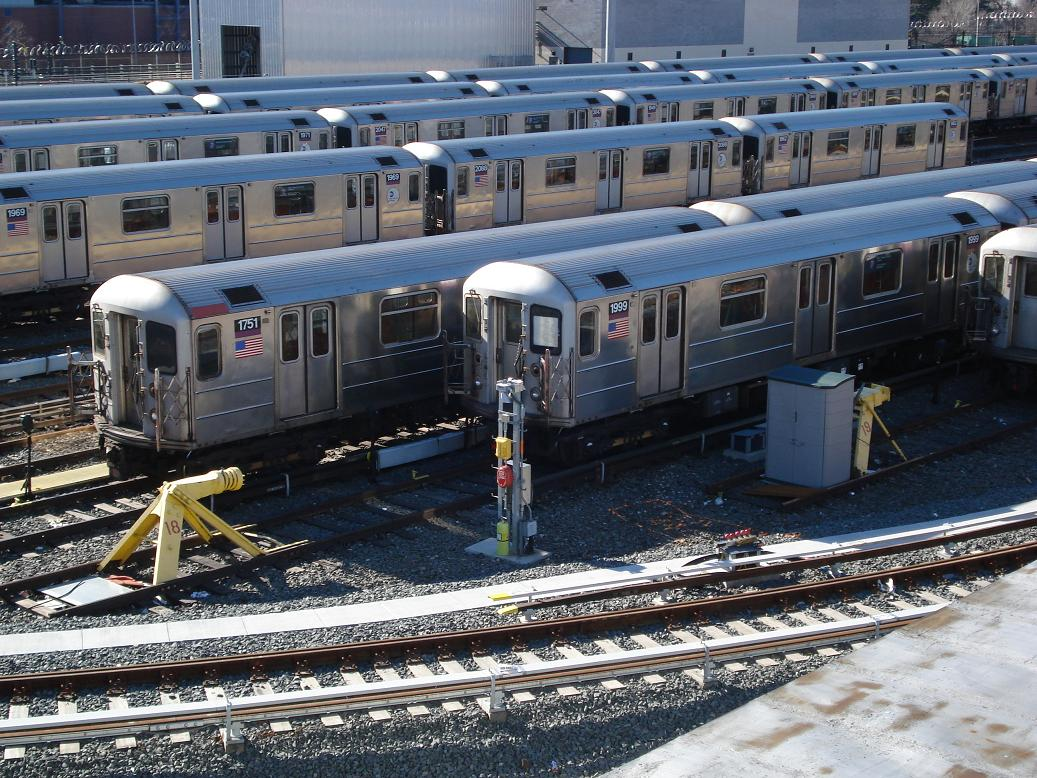 (200k, 1037x778)<br><b>Country:</b> United States<br><b>City:</b> New York<br><b>System:</b> New York City Transit<br><b>Location:</b> Corona Yard<br><b>Car:</b> R-62A (Bombardier, 1984-1987)  1751/1999 <br><b>Photo by:</b> Michael Hodurski<br><b>Date:</b> 2/4/2007<br><b>Viewed (this week/total):</b> 0 / 2140