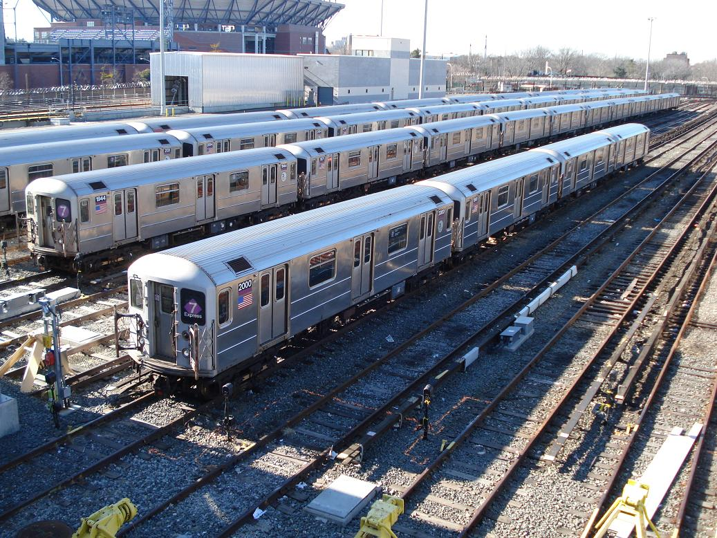 (235k, 1037x778)<br><b>Country:</b> United States<br><b>City:</b> New York<br><b>System:</b> New York City Transit<br><b>Location:</b> Corona Yard<br><b>Car:</b> R-62A (Bombardier, 1984-1987)  1944/2000 <br><b>Photo by:</b> Michael Hodurski<br><b>Date:</b> 2/4/2007<br><b>Viewed (this week/total):</b> 0 / 2018