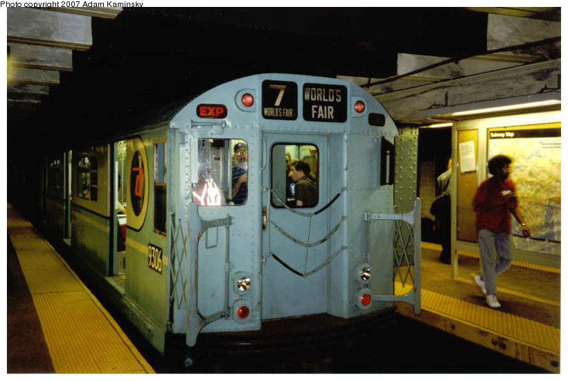 (99k, 820x550)<br><b>Country:</b> United States<br><b>City:</b> New York<br><b>System:</b> New York City Transit<br><b>Line:</b> BMT Broadway Line<br><b>Location:</b> Whitehall Street <br><b>Route:</b> Fan Trip<br><b>Car:</b> R-33 World's Fair (St. Louis, 1963-64) 9306 <br><b>Photo by:</b> Adam Kaminsky<br><b>Viewed (this week/total):</b> 0 / 1799