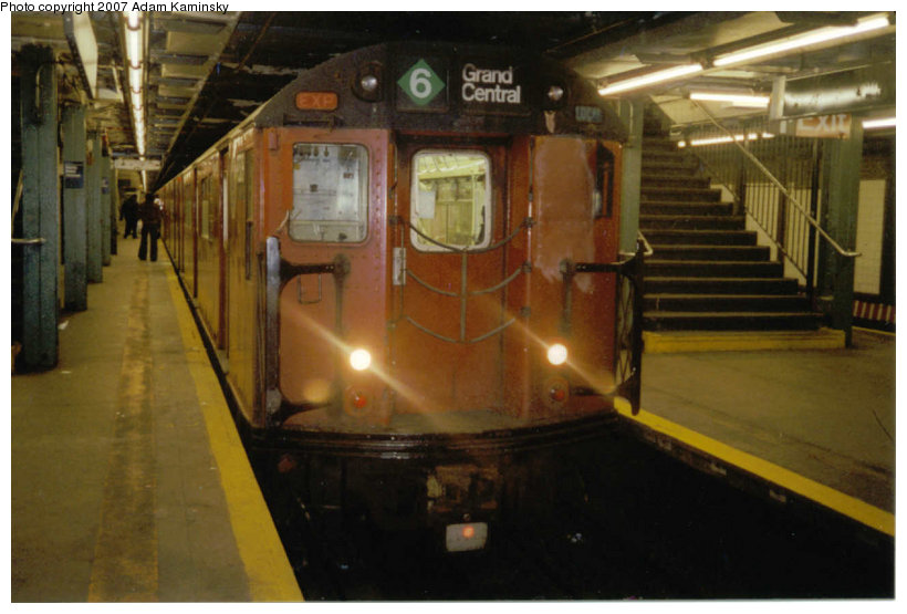 (100k, 820x555)<br><b>Country:</b> United States<br><b>City:</b> New York<br><b>System:</b> New York City Transit<br><b>Line:</b> IRT Pelham Line<br><b>Location:</b> Hunts Point Avenue <br><b>Route:</b> Fan Trip<br><b>Car:</b> R-33 World's Fair (St. Louis, 1963-64) 9310 <br><b>Photo by:</b> Adam Kaminsky<br><b>Date:</b> 12/2003<br><b>Viewed (this week/total):</b> 0 / 2214