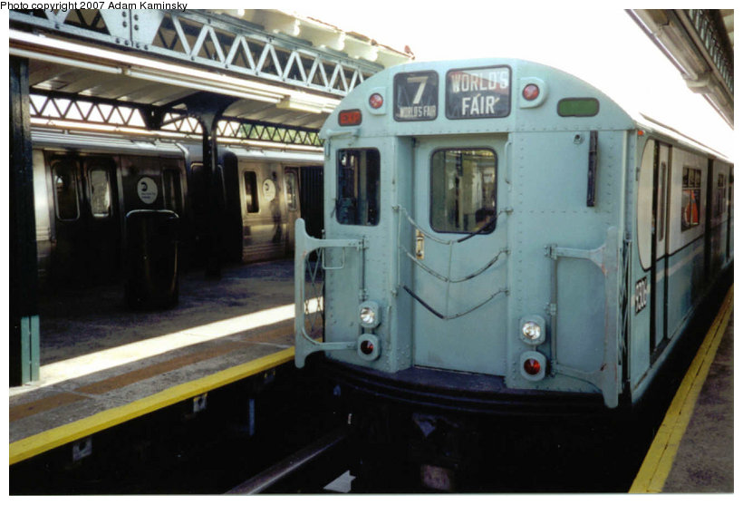 (100k, 820x557)<br><b>Country:</b> United States<br><b>City:</b> New York<br><b>System:</b> New York City Transit<br><b>Line:</b> BMT Astoria Line<br><b>Location:</b> Astoria Boulevard/Hoyt Avenue <br><b>Route:</b> Fan Trip<br><b>Car:</b> R-33 World's Fair (St. Louis, 1963-64) 9306 <br><b>Photo by:</b> Adam Kaminsky<br><b>Date:</b> 8/23/2003<br><b>Viewed (this week/total):</b> 1 / 1382
